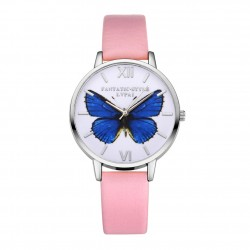 Butterfly design - leather Quartz watch