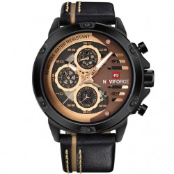 Naviforce Luxury Leather Waterproof Quartz Men's Watch