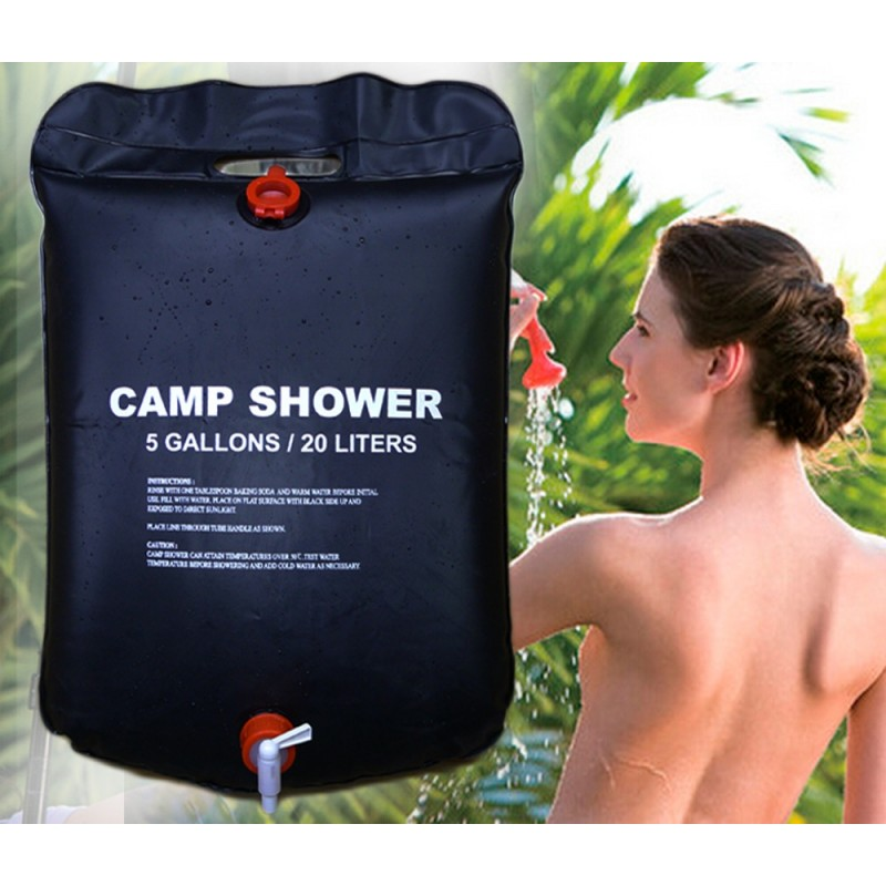 20L / 5 Gallons Solar Energy Heated Camp PVC Shower Bag