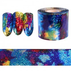 Gradient Starry Sky Blue Holographic Paper Foil Nail Art Sticker 1m