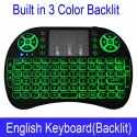 Original i8 With LED Backlight English - Russian Wireless Keyboard Touchpad  |