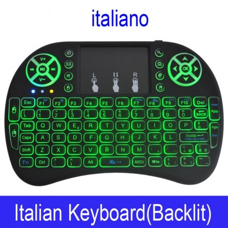 Original Backlight i8 English Russian 24GHz Wireless Keyboard Touchpad Handheld Backlit For Andro