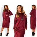 Plus Size Long Vintage Loose Tunic Dress