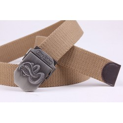 110 - 120cm King Cobra Casual Canvas Military Men's Belt