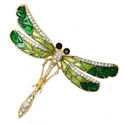 Fashion Rhinestone Dragonfly Brooch Pin