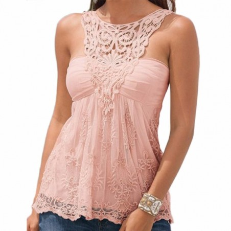 Sexy Vest Backless Lace Top