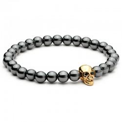 Bracelet avec Crânes d'Hématite Noire
