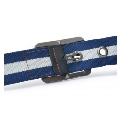 Pin Buckle Knitted Canvas Strap Men's Belt
