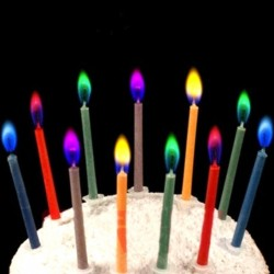 6Pcs Colored Birthday Cake Candles Safe Flames Party Festivals Home Decorations