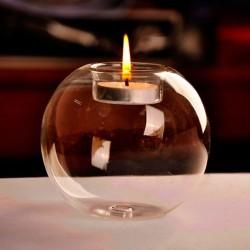 Kryształowa szklana kula - świecznik