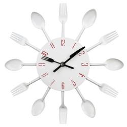 Sztućce Modny Kuchenny Ścienny Zegar