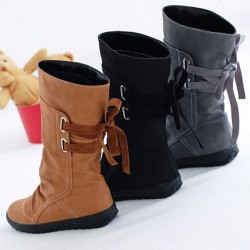 Warme Winter Lederstiefel Leder