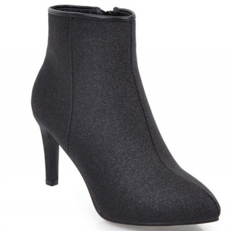 High Heel Pointed Toe Ankle Boots