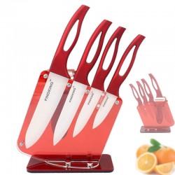 Zirconia Czerwony Uchwyt Ceramiczne Noże Kuchenne Z Uchwytem Zestaw