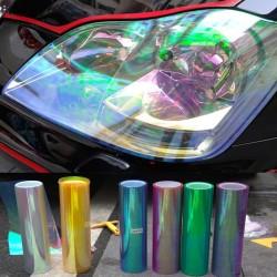Autocollants Lumineux Translucides pour Lumières de Voiture 120 * 30cm