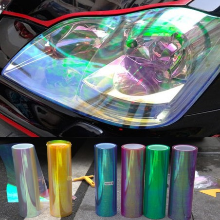 Shiny Chameleon Car Lights Film Sticker 120 * 30cm