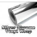 Chrome Silver Vinyl Car Sticker Electroplated Film Wrap Decal 30 * 152cm