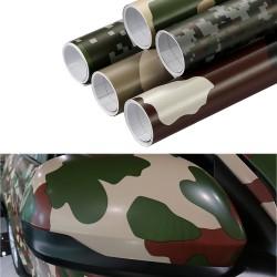 Adhesivo Auto Moto Camouflage Vinyl PVC Wrap Decal 30 * 100cm
