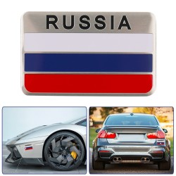 3D Aluminum Russia Flag Car Sticker