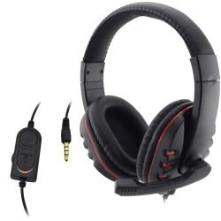 PlayStation 4 - przewodowy 3.5mm zestaw słuchawkowy z mikrofonem - słuchawki PC