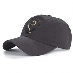 Baseball cap with anchor - cotton - adjustable - unisex