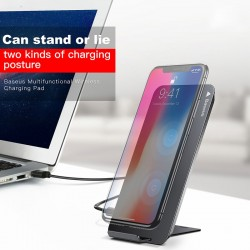 Baseus iPhone X Samsung Note Edge Qi Wireless Fast Charging Dock Station Charger
