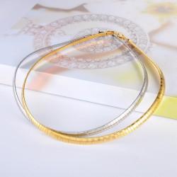 Flache Slange Edelstahl Halskette