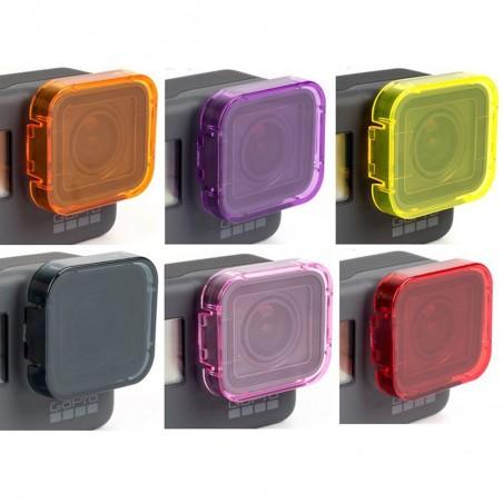GoPro Hero 5 Unterwasser Tauchen Objektivdeckel Filter Abdeckung Fall 6 Stücke