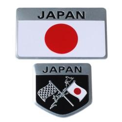 Drapeau du Japon Autocollant Métallique pour Voitures