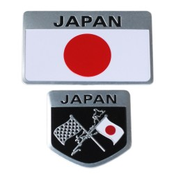 Metalen Japanse Vlag Embleem Badge Japan Auto Sticker