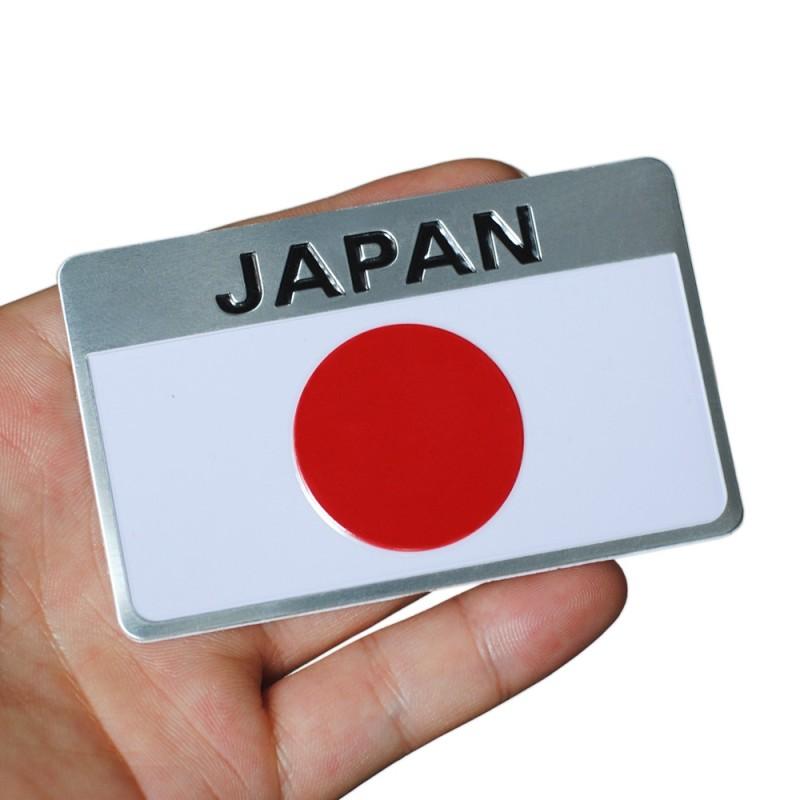 Bandera Adhesiva de Japón Metálica para Coche