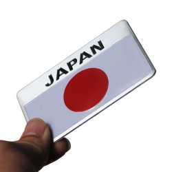 Metalowa Japońska Flaga Emblemat Odznaka JAPAN Samochodowa Naklejka