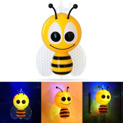 Cartoon Bee Light Sensor Colorful LED Night Light