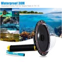 "TELESIN 6\"" Waterproof Case Floating Trigger for GoPro Hero 4 3 3+ Lens Dome Cover Housing"