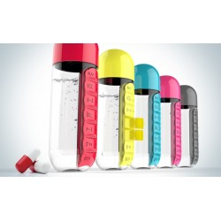 Daily pill organizer - box - water bottle - leak-proof - 600ml