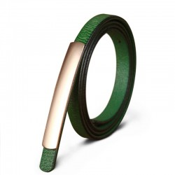 Fashion Style Genuine Leather Alloy Buckle Belt