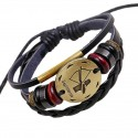 Zodiac Sings Leather Fashion Bracelet