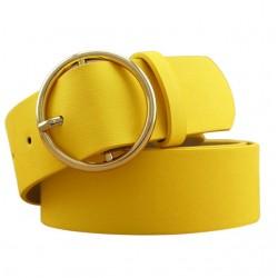 Cinturón de Cuero con Hebilla Dorada