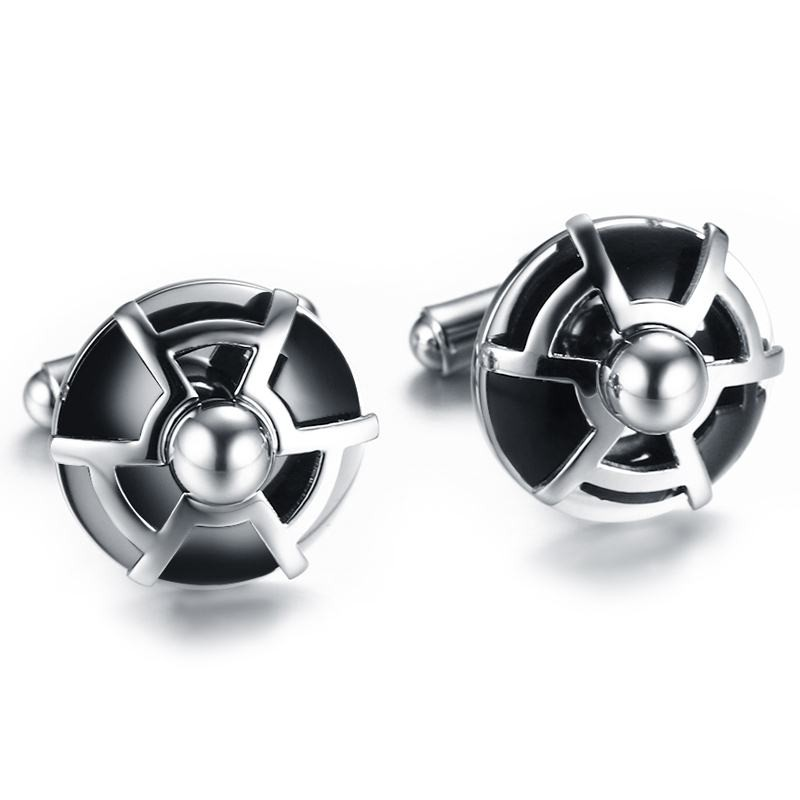 Stylish Design Round Cufflinks