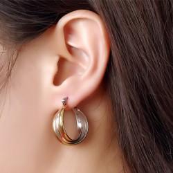 Gold & silver hoops earrings
