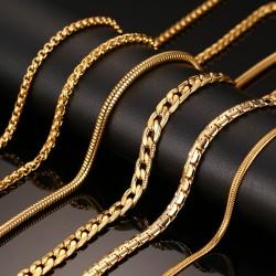 Złoty Naszyjnik Łańcuszek 60cm