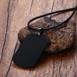 Medical Sign Pendant Leather Necklace Unisex