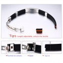 Silicone Stainless Steel Buckle Bracelet