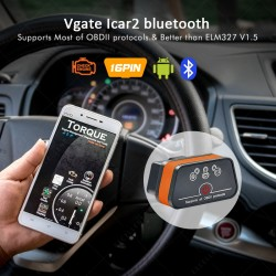 Vgate iCar 2 Bluetooth OBD2 Scanner Diagnostic Elm327 OBDII