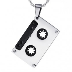 Punk Cassette Tape Hanger Roestvrijstaal Ketting Unisex