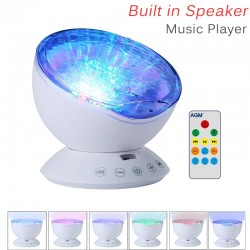 Ocean waves - starry sky - USB LED night light - projector