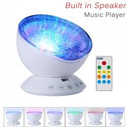 Ozean Welle  Sternenklarer Himmel USB LED Nachtlicht Projektor