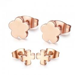 Rose Gold Edelstahl Ohrringe 2 Paar