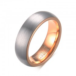 Anello in Tungsteno Oro Rosa