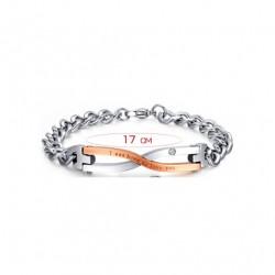 Bracelet en Acier Inoxydable pour les Couples